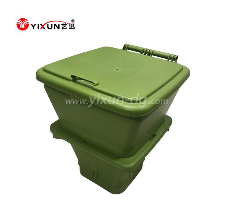 Custom plastic injection mould for green plastic dustbin