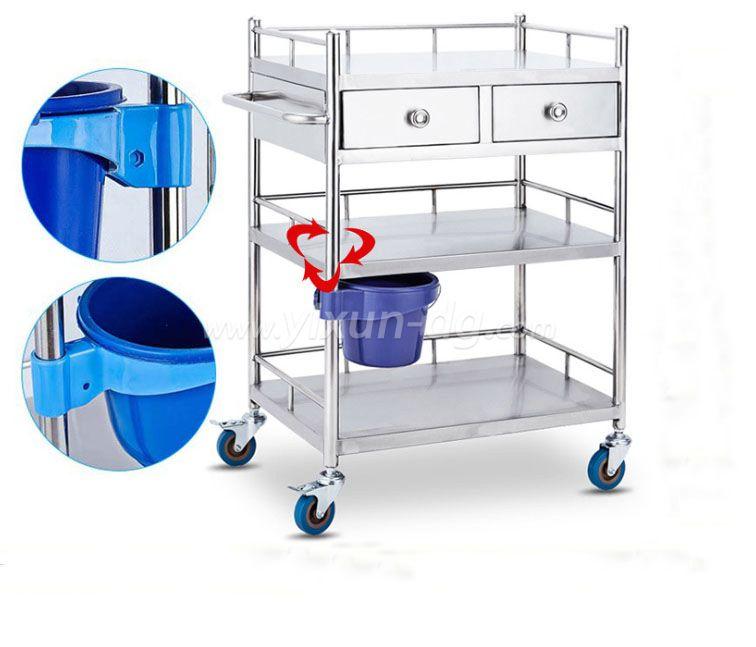 OEM ABS Plastic Hospital Medication Trolley